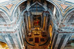 Estrela Basilica Royal Basilica and Convent of the Most Sacred Heart of Jesus In Lisbon. Portugal stock photos