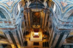 Estrela Basilica Royal Basilica and Convent of the Most Sacred Heart of Jesus In Lisbon. Portugal stock photo