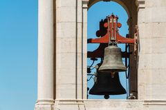 Estrela Basilica Royal Basilica and Convent of the Most Sacred Heart of Jesus Bell Tower In Lisbon. Portugal royalty free stock photos