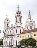 The Estrela Basilica. View of the Estrela Basilica in Lisbon stock images