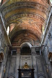Estrela basilika i Lissabon, Portugal arkivfoton