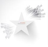 Estrela branca Ray e explosão Foto de Stock Royalty Free