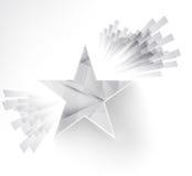 Estrela branca Ray e explosão Fotografia de Stock Royalty Free
