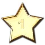 Estrela brilhante do ouro Imagens de Stock