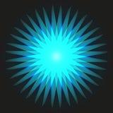 Estrela brilhante Os raios Imagem de Stock