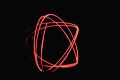 Estrela clara do vermelho da pintura Fotografia de Stock