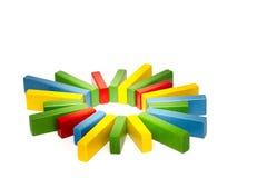 Estrela colorida Fotos de Stock