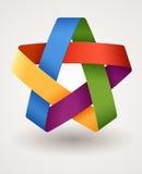 Estrela colorida Imagem de Stock