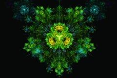 Estrela colorida do fractal da mandala da flor ilustração do vetor