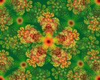 Estrela colorida do fractal da mandala da flor ilustração royalty free