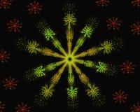 Estrela colorida do fractal da mandala da flor ilustração stock