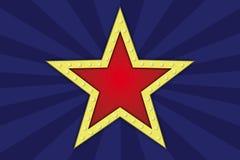 Estrela com lâmpadas Fotografia de Stock Royalty Free