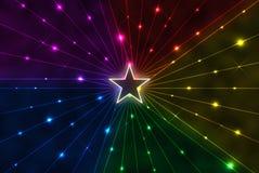 Estrela com raias do arco-íris Imagem de Stock