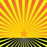 Estrela com reys Imagens de Stock