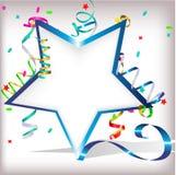 Estrela com serpentina Imagens de Stock Royalty Free