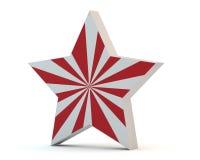 Estrela com tiras vermelhas Imagens de Stock