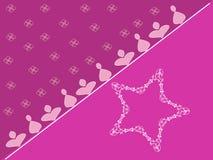 Estrela cor-de-rosa Fotografia de Stock