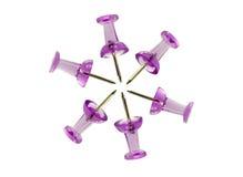 Estrela cor-de-rosa do pino no branco Foto de Stock Royalty Free