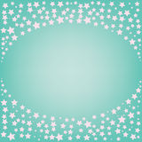 Estrela cor-de-rosa mágica abstrata com espaço para o texto no fundo azul Fotografia de Stock