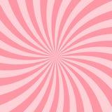 Estrela cor-de-rosa retro Ray Backdrop do vintage do fundo de Starburst ilustração royalty free