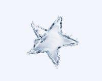 Estrela da água azul Foto de Stock Royalty Free