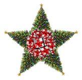Estrela da árvore de Natal Fotografia de Stock Royalty Free