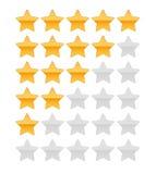 Estrela da avaliação Ilustração Stock