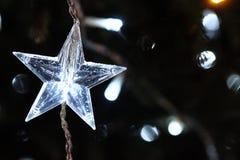 Estrela da decoração da árvore do ano novo dada forma Imagem de Stock