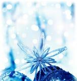 Estrela da decoração do Natal Imagens de Stock Royalty Free