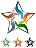 Estrela da equipe ilustração royalty free