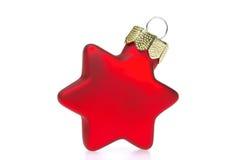 Estrela da esfera do Natal Fotografia de Stock Royalty Free