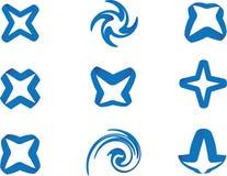 Estrela da fita azul Fotos de Stock Royalty Free