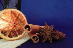 Estrela da laranja, da canela e do anis Fotografia de Stock