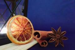 Estrela da laranja, da canela e do anis Foto de Stock