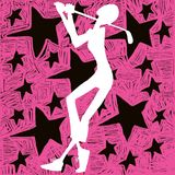 Estrela da menina do golfe ilustração royalty free