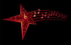 Estrela da música Fotografia de Stock Royalty Free
