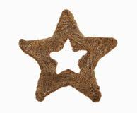 Estrela da palha do Natal Imagem de Stock Royalty Free