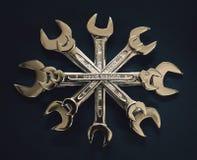Estrela das chaves imagens de stock