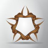 Estrela das fitas de St George Símbolo da vitória do russo 9 de maio Ilustração do vetor ilustração royalty free