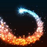 Estrela de brilho colorida Estrela mágica com cauda de poeira Ilustração do vetor Imagens de Stock