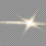 Estrela de brilho com um stardust, cor dourada Foto de Stock Royalty Free