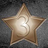 Estrela de bronze ilustração royalty free