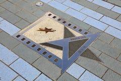 Estrela de Bruce Lee em Hong Kong foto de stock