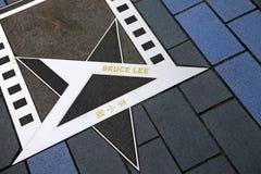 Estrela de Bruce Lee na avenida das estrelas imagem de stock royalty free