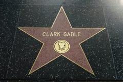 Estrela de Clark Gable na caminhada de Hollywood da fama imagem de stock