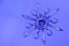 Estrela de cristal, floco de neve fotografia de stock