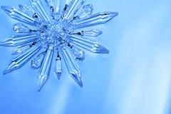 Estrela de cristal, floco de neve fotografia de stock royalty free