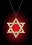 Estrela de David do ouro Imagem de Stock Royalty Free