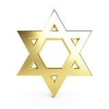 Estrela de David do ouro Fotografia de Stock