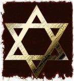 Estrela de David do ouro velho Fotos de Stock Royalty Free